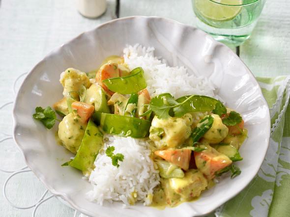 Frühlingsgemüse in Currysahne Rezept