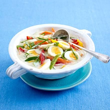 Frühlingshaftes Curry-Eier-Ragout Rezept