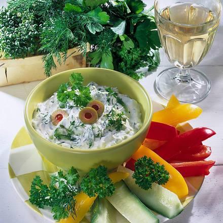 Frühlingsquark zu frischem Gemüse Rezept