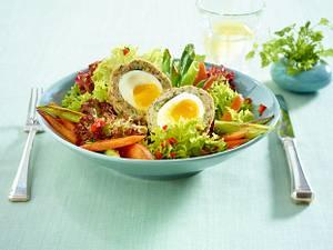 Frühlingssalat mit Kerbel-Eiern Rezept
