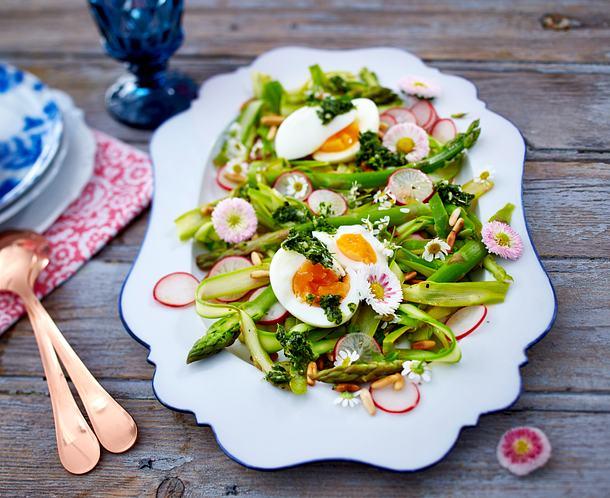 Frühlingssalat mit Kresse-Gremolata Rezept