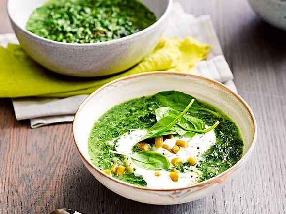 Für kleines Geld: Spinatsuppe mit Quinoa Rezept
