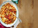 Fusili mit gerösteter Tomatensoße und Rosmarinbröseln Rezept