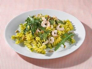 Fusilli mit Shrimps und Raukepesto Rezept