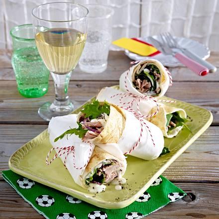 Fußball WM-Party 2014: Tortilla-Wraps mit Thunfisch Rezept