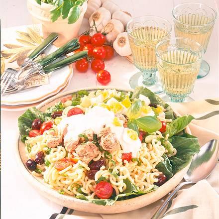 Gabelspaghetti-Salat mit Thunfisch Rezept