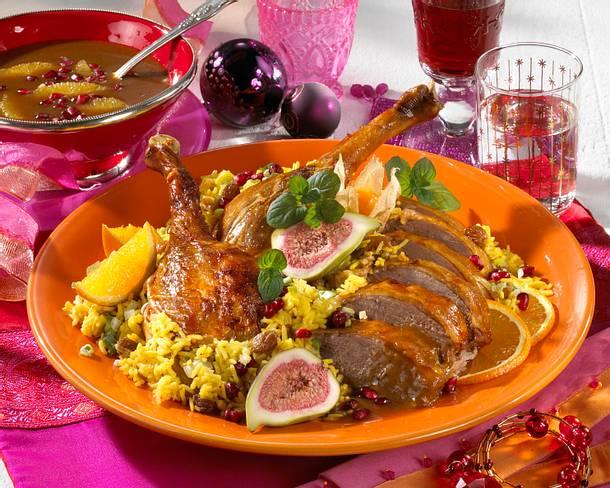 Gänsebraten auf orientalische Art Rezept