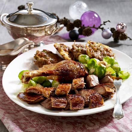 Gänsebraten mit Maronen-Rösti Rezept