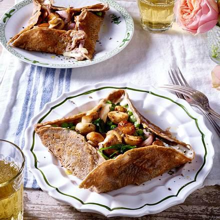 Galettes bretonnes – Bretonische Buchweizenpfannkuchen mit Gemüse Rezept