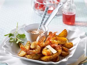 Gambas & Country Potatoes Rezept
