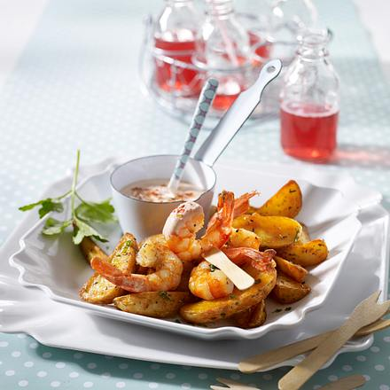 Gambas & Country Potatoes Rezept