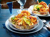 Garnelen auf Linsen-Gurken-Salat Rezept