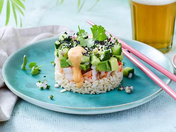 Garnelen-Avocado-Türmchen (California Shrimp Stack) Rezept