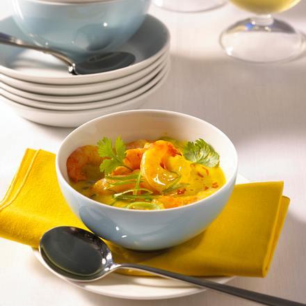 Garnelen-Curry mit Knoblauchchips Rezept