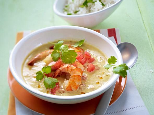 Garnelen-Curry mit Tomaten, Koriander und Chili Rezept