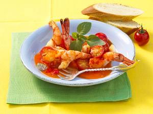 Garnelen in Tomaten-Safran-Soße Rezept