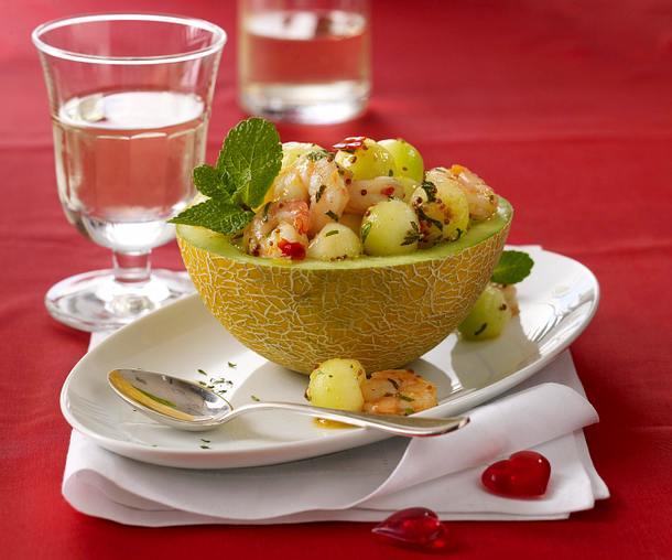 Garnelen mit Melone Rezept
