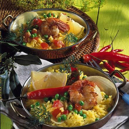 Garnelen-Reis-Pfännchen Rezept