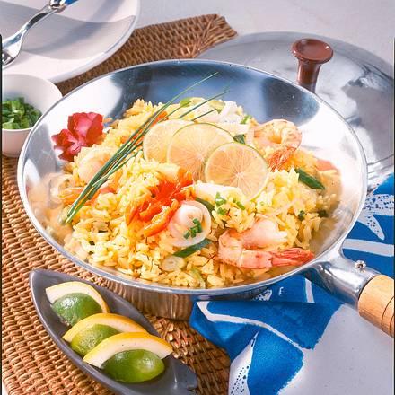 Garnelen-Reis-Pfanne Rezept
