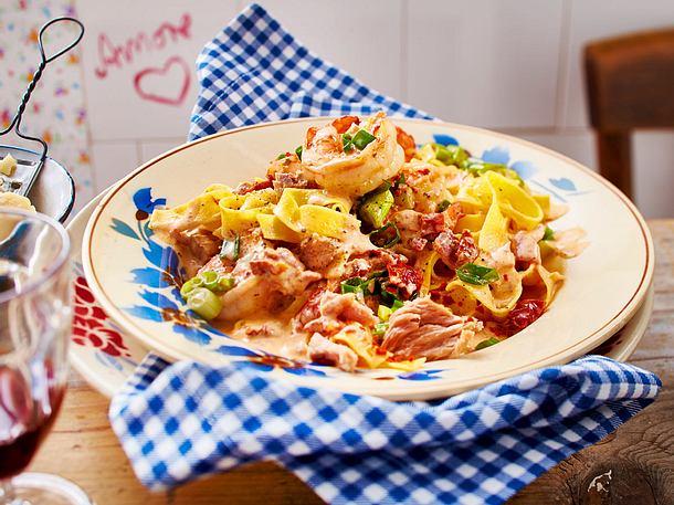 Garnelen-Tomaten-Pasta Rezept