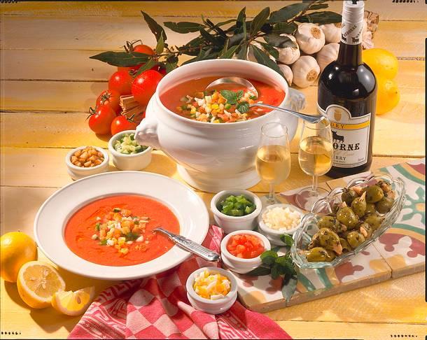 Gazpacho (kalte Tomatensuppe) Rezept