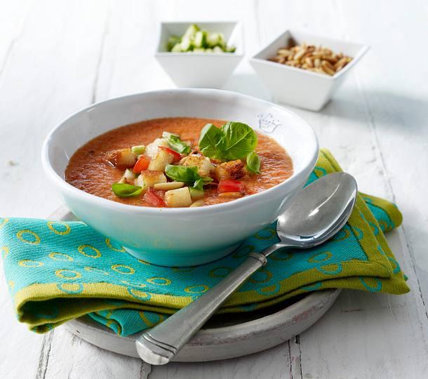 Gazpacho mit Croûtons Rezept