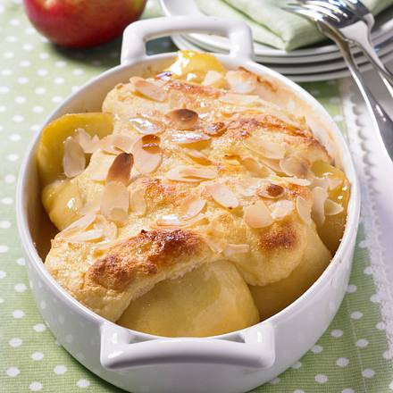 Gebackene Äpfel mit Grießschaum Rezept