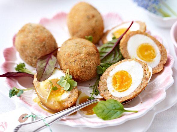 Gebackene Eier im Lachsmantel Rezept