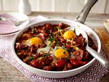 Gebackene Eier im Tomatennest Rezept
