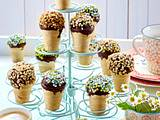Gebackene Eis-Muffins im Waffelbecher Rezept