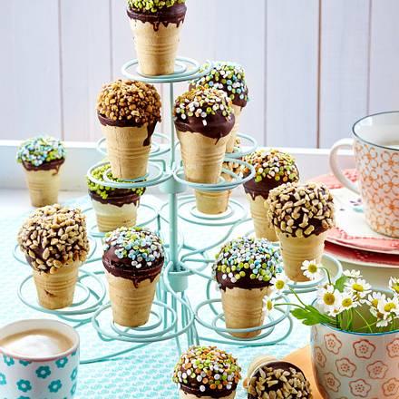 Gebackene Eis Muffins Im Waffelbecher Rezept Lecker