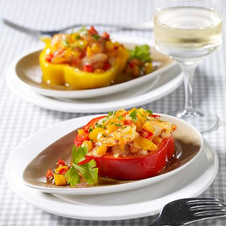 Gebackene Paprika-Chili-Shrimps Rezept