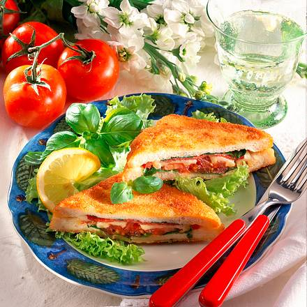Gebackene Pizza-Sandwiches Rezept