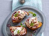 Gebackene Süßkartoffeln mit Thunfischsalat Rezept