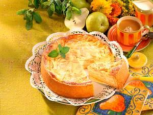 Gebackener Birnen-Käse-Kuchen Rezept
