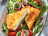 "Gebackener Feta auf ""Hab's eilig""-Salat Rezept"