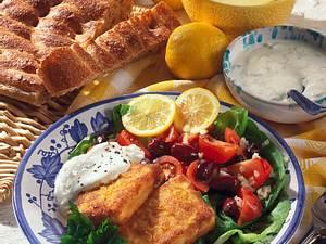 Gebackener Feta-Käse mit Tsatsiki Rezept