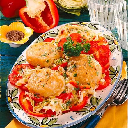 Gebackener Harzer auf Krautsalat Rezept