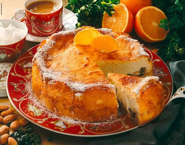 Gebackener Orangen-Käsekuchen Rezept