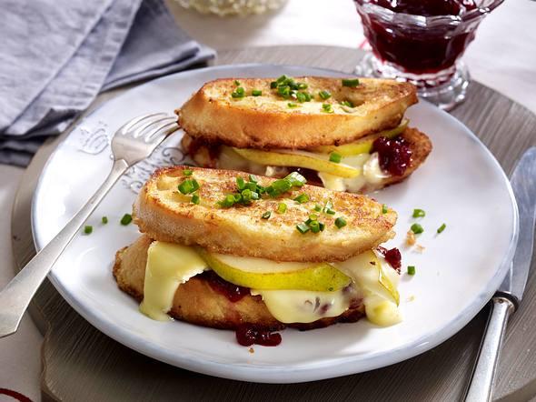 Gebackenes Birnen-Käse-Sandwich Rezept