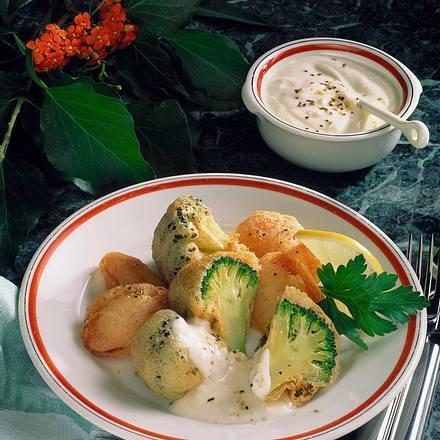Gebackenes Gemüse mit Aioli Rezept