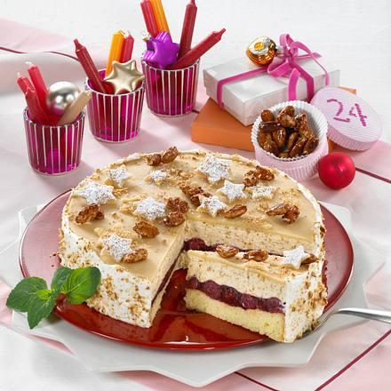 Gebrannte Mandel Kirsch Torte Rezept Lecker