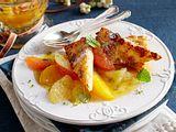 Gebratene Mandelgrießschnitten mit Zitrussalat Rezept