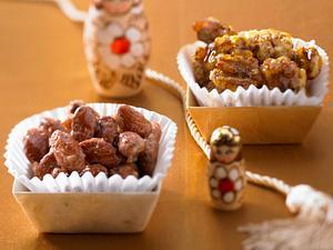 Gebrannte Mandeln und Walnüsse Rezept