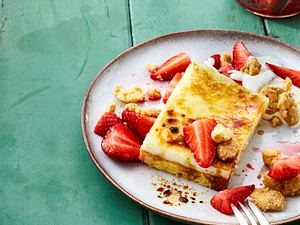 Gebrannter Erdbeerkuchen mit Vanillecreme Rezept