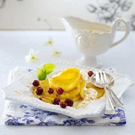 Gebratene Ananas mit Marzipancreme Rezept