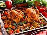 Gebratene Hähnchen mit Ratatouille-Gemüse Rezept