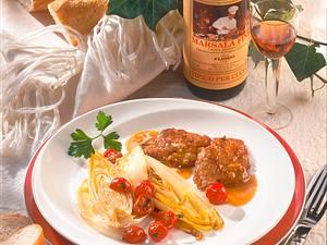 Gebratener Chicorée zu Marsala-Schnitzeln Rezept