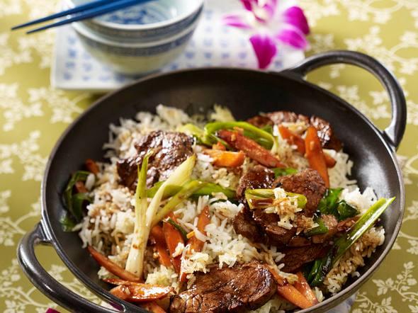 Gebratener Reis mit Schweinefilet Rezept