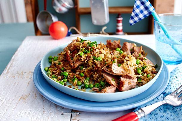 Gebratener Reis mit Thunfisch Rezept
